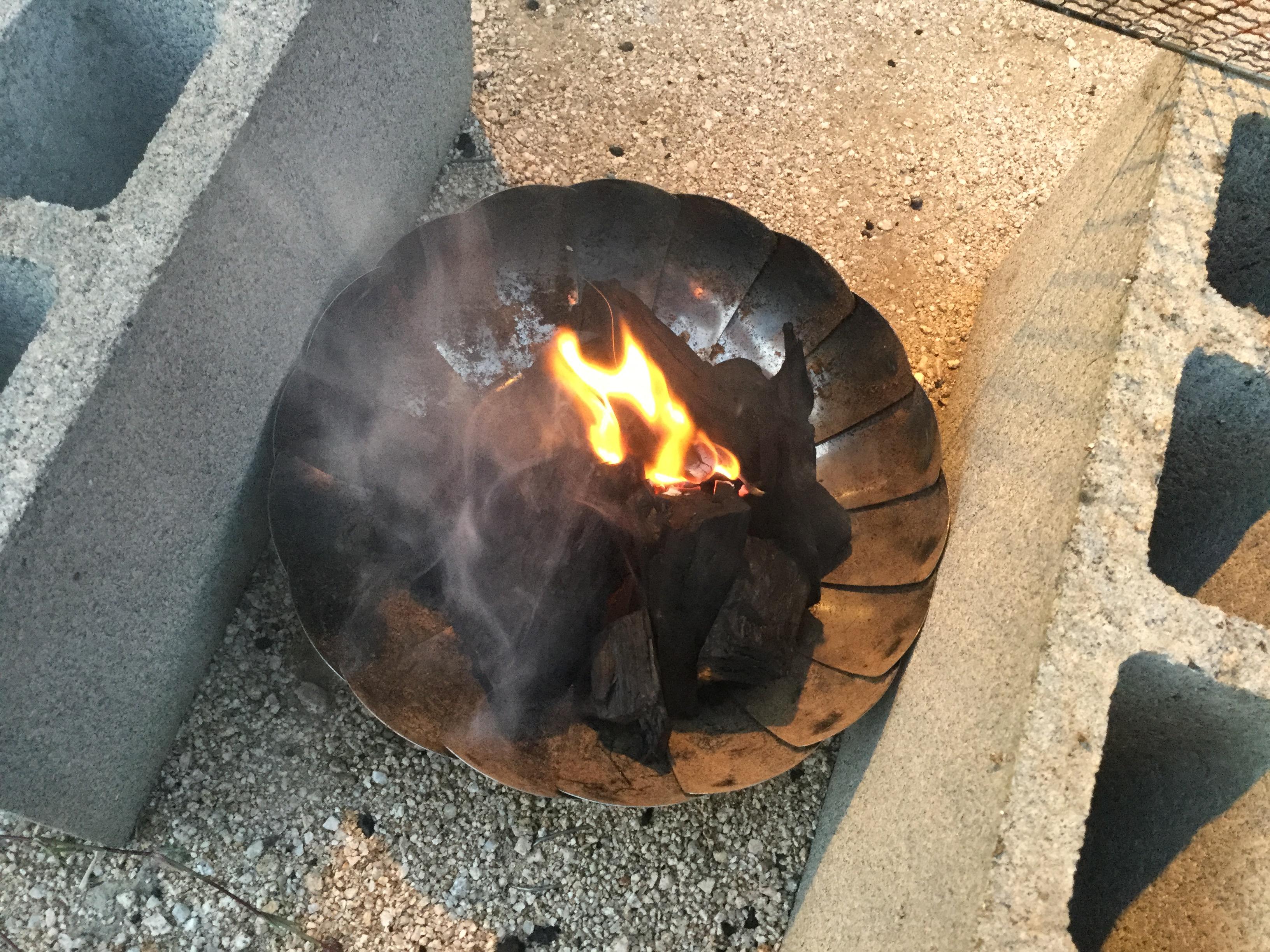 の 起こし 炭 置き 火 方 バーベキュー